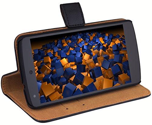 mumbi Ledertasche im Bookstyle für Google Nexus 5 Tasche