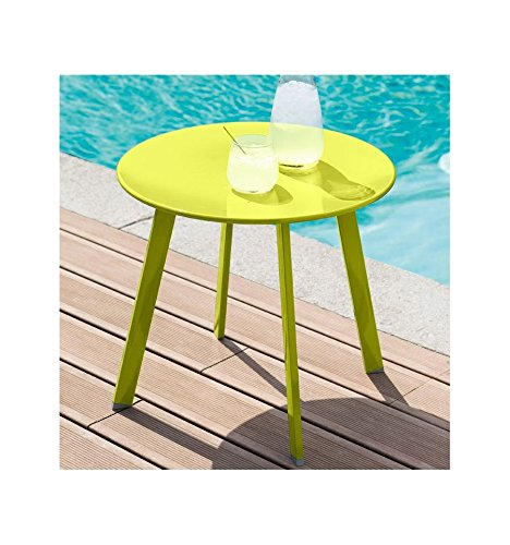 Table basse en acier - Utilisation extérieure et intérieure - Coloris VERT Anis