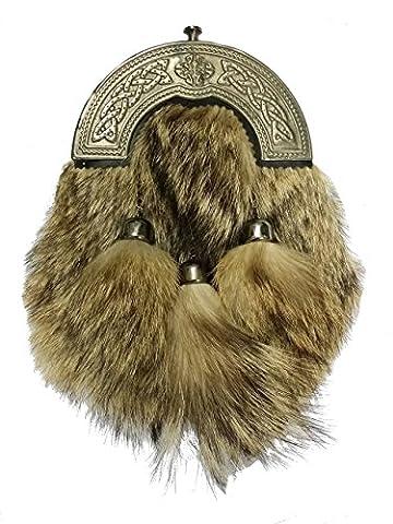 Hommes de troussequin Fox fourrure/celtique complet pour kilt écossais Highland Écossais Kilt celtique (Highland House)