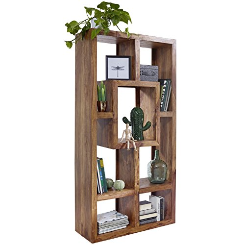 FineBuy Design Massives Bücherregal Sheesham 180 x 90 x 35 cm Massivholz