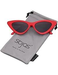 SOJOS Lunettes de Soleil Clout Goggles Œil de Chat Vintage Mod Rétro Kurt  Cobain SJ2044 5a5d776231b7