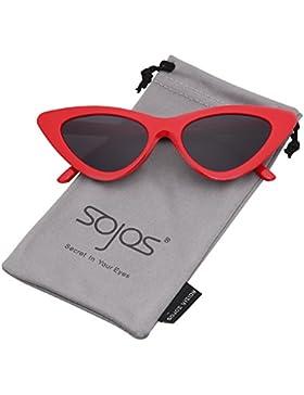 SOJOS Gafas De Sol Mujer Ojo De Gato Moda Chic Super Cat Eye SJ2044