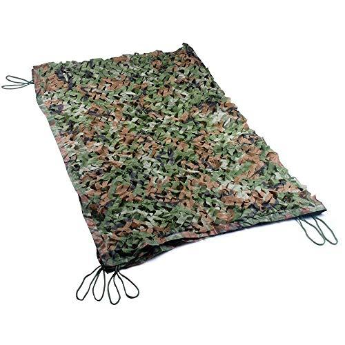 GRZP Filet de Camouflage dans la Jungle, Dense et Solide, avec Treillis en Nylon, Convient au Camping en Plein air Camouflage et à la décoration de Jardins (Multiple, Camouflage dans la Jungle)