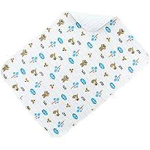 Ailina agradable al tacto suave algodón cambiador impermeable reutilizable bebé cambiador para pañales cambio en diferentes tamaños y diseños de animales