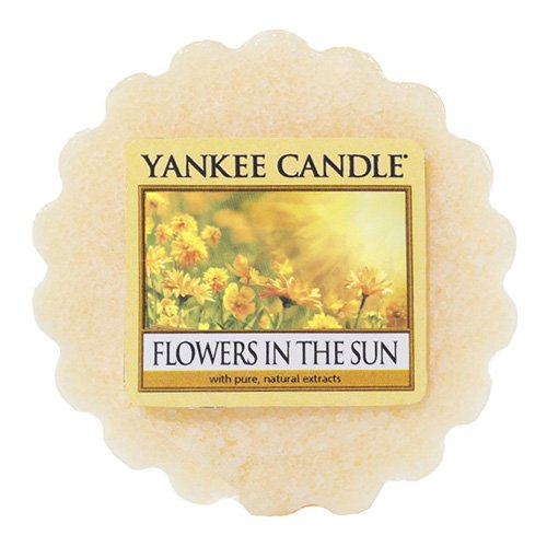 YANKEE CANDLE Blumen in der Sonne (Flowers in The Sun) Duftwachstörtchen zu Schmelzen, wachs, Gelb 5.9 x 5.7 x 2 cm