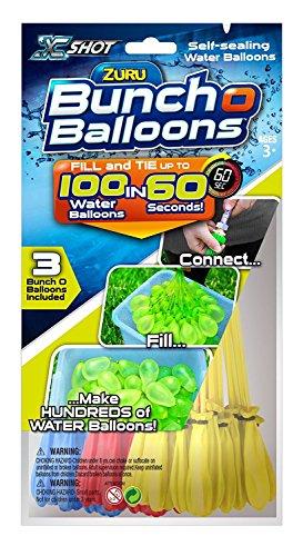 HTI 0845218012601 Zuru-Bunch O Balloons-Wasserbomben 1 Pack a 3 Farben (100 Ballons gesamt)