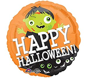 "Amscan International 3385101 ""Happy Halloween Zombie Globos de Papel de Aluminio (estándar)"