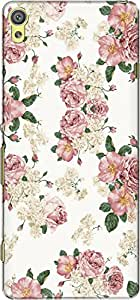 The Racoon Lean printed designer hard back mobile phone case cover for Sony Xperia XA. (Blossom)