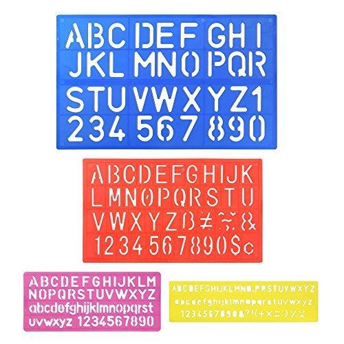6d0d62d72f Prezzo Pllieay - 4 normografi con lettere dell'alfabeto e numeri, per  lavoretti