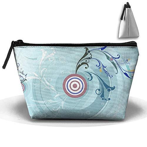 Trapez Portable Reise Kulturbeutel Kreis Ziel Splash Kosmetiktaschen Multifunktions-Clutch Bag - Ziel Kulturbeutel