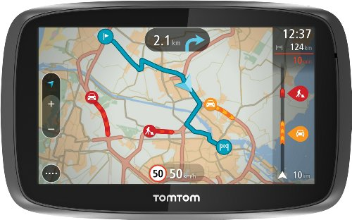 Traffic Navigationssystem (13 cm, (5 Zoll) kapazitives Touch Display - Bedienung per Fingergesten, Lifetime TomTom Traffic & Maps) ()