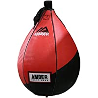 """Amber Fight Gear Speed Ball Boxing Genuine Leather MMA Muay Thai Training Punching Speed Bag 7"""""""