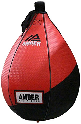 Amber Fight Gear Leather MMA Speed Ball Boxing Bag Mehrfarbig, 18 cm -