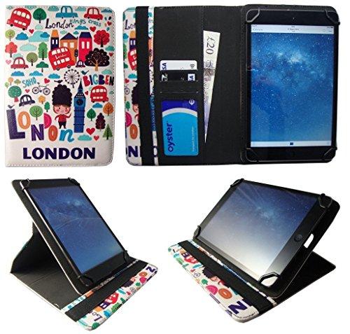 Kiano SlimTab 8 London City Universal 360 Grad Wallet Schutzhülle Folio mit Kartensteckplätzen ( 7 - 8 zoll ) von Sweet Tech