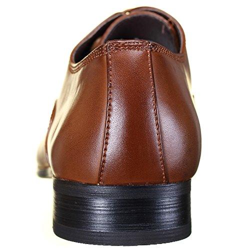 Galax - Chaussure Derbie Gh1267 Tan Camel Marron
