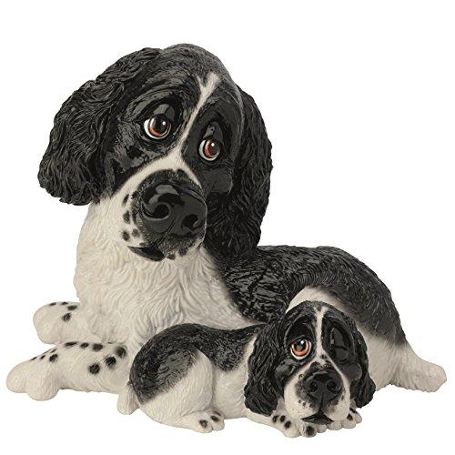 Pets With Personality Deko-Figur 5514 Springer Spaniel Hund &&Schwarz Weiß (Spaniel Springer Hund-figur)