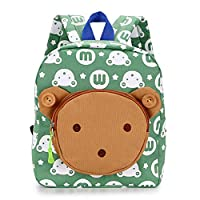 IGNPION Nursery Kids Backpacks Toddle Children School Bag Zoo Lunch Bag 3D Cute Animal Cartoon Preschool Rucksack