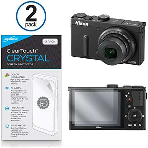 Nikon Coolpix P330Protector de pantalla, ® [BoxWave ClearTouch Crystal (2-Pack)] HD Película Piel–Escudos de arañazos para Nikon D810, D750| Coolpix