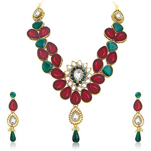 Sukkhi Appealing Gold Plated Kundan Necklace Set For Women