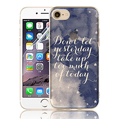 Ultra Sottile Custodia per iPhone 7 Plus iPhone 7 Plus, Cover per iPhone 7 Plus, Sunroyal Creativa Wave Cover Morbido Flessibile TPU Silicone Gel Protettivo Skin Caso Custodia Protettiva Shell Case Co Model 24