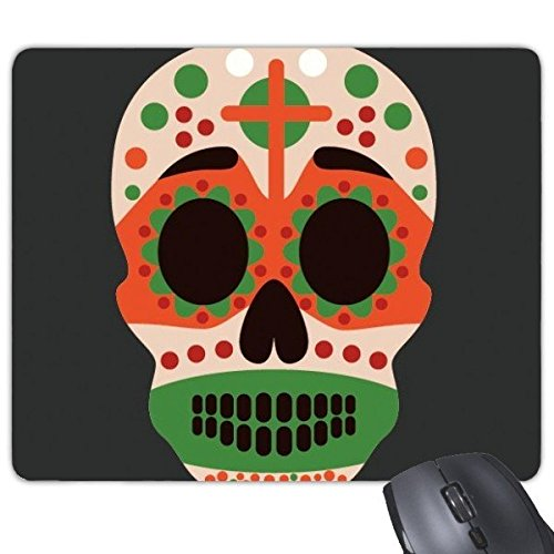DIYthinker Querschädel Mexiko Kultur Flagge Farbe Illustration Rectangle Griffige Gummi Mousepad Spiel Mauspad Geschenk