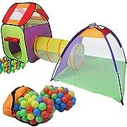 Con tenda questo super grandi per bambini i vostri bambini avranno un grande gioco. Il 3 pezzi tenda del gioco è fornito con una custodia per il trasporto, dove i singoli elementi possono essere memorizzati in modo salvaspazio. Le numerose su...