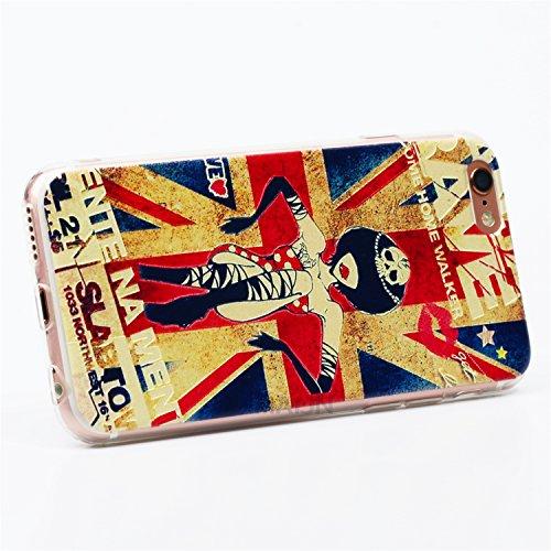 Coque pour Apple iPhone 6 Plus / 6S Plus 5,5 Pouce, MaiJin Relief 3D Stéréoscopique Housse Protection de Téléphone Case Drapeau Britannique