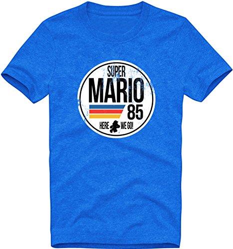 EZYshirt® Super Mario Herren T-Shirt Rundhals Premium Organic Cotton| Bio Baumwolle (Mario Toad Super Bros Kostüm)