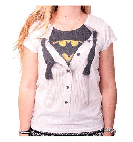 Batman Blouse Camiseta Mujer Blanco L