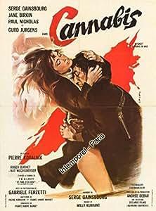 Cannabis - 1969 Pierre Koralnik - Gainsbourg - 60X80Cm Affiche Cinema Originale