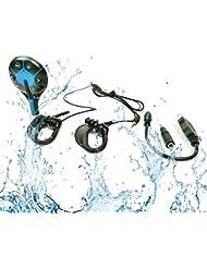 Waterproof MP3 Player 4GB Wasserdichter mini Sport Musik Player IPX8 - Hören Sie Ihre Musik beim Schwimmen / Running / Training /SPA/ Für alle Freizeitsport - Neues Design wasserdichte Sport MP3 Player Wasser fliegende Untertasse ( MP3-LFA-267 )