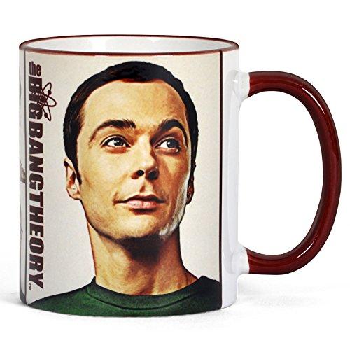 Big Bang Theory Tasse Retro Motiv mit Sheldon & Co
