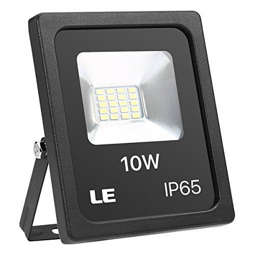 LE Lighting EVER Projeteur LED Extérieur Etanche IP65, 10W 5000K 800lm, Blanc Froid en Aluminium de 2835 LED Ampoules Angle d'Eclairage 110 Degrés pour Terrasse, Jardin, Mur, Scène, Cour, Parc, etc