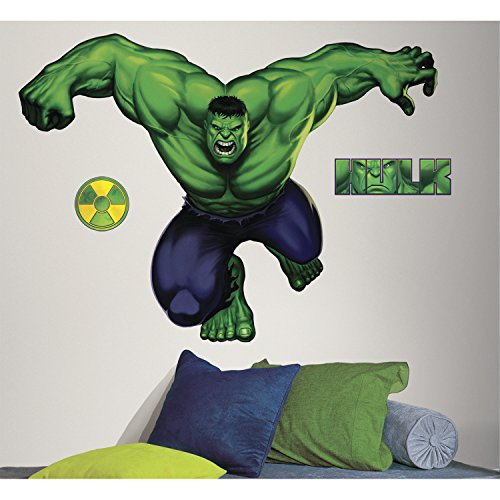 RoomMates The Hulk GIANT Marvel Wandsticker (Marvel Avengers-fenster Aufkleber)