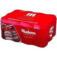 Mahou 5 Estrellas Cerveza - Pack de 12 x 330 ml - Total: 3960 ml