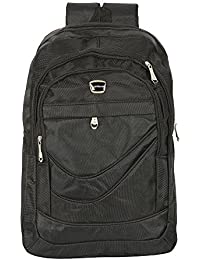 AllExtreme Water Resistant Lightweight Backpack 15.6 Inch Laptop and Tablet Nylon Bag for Travel College Camping, Hiking (Black)