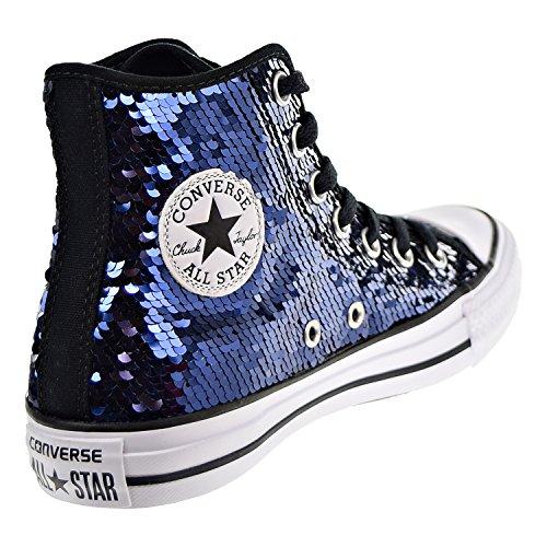 Converse Chuck Taylor All Star Sequin Hi Midnight Indigo Textile Trainers Midnight Indigo Black