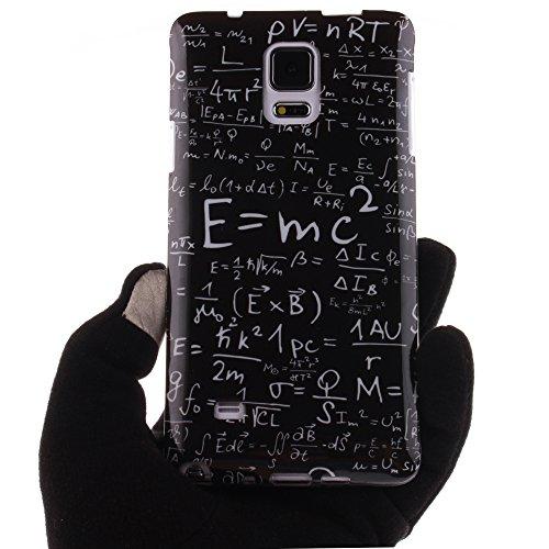 Samsung Galaxy Note 4 hülle MCHSHOP Ultra Slim Skin Gel TPU hülle weiche Silicone Silikon Schutzhülle Case für Samsung Galaxy Note 4 SM-N910S / SM-N910C - 1 Kostenlose Stylus (Campanula Tanzen mit Fed Das Gesetz der Schwerkraft (The law of gravity)