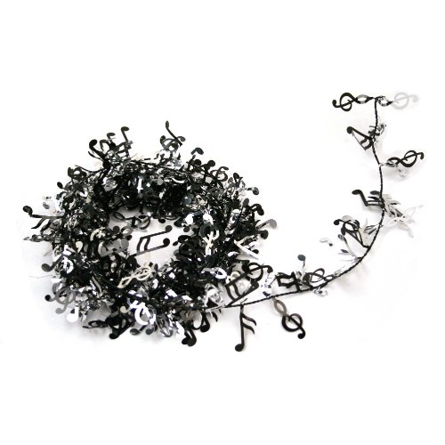 Party-Deco 04517 12 ft. Black Music Hinweise Draht Garland - 12er Pack