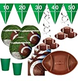 XXL 38 Teile Football Superbowl Party Deko Set für 8 Personen