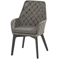4Seasons Outdoor Savoy Dining Sessel Hularo Geflecht Batik Mit Sitzkissen  213272