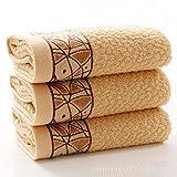 XXIN Reine Baumwolle Handtuch Picasso Baumwolle Handtuch Bestickt Wort Kaffee Farbe 35 * 75
