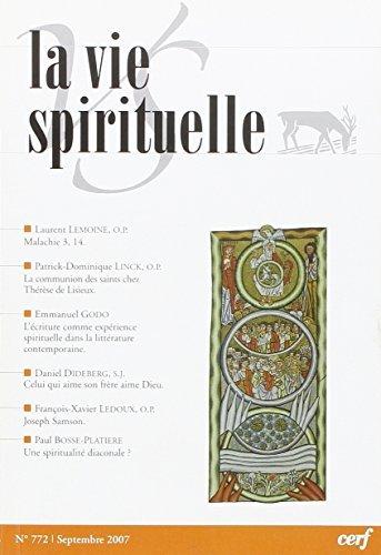 La Vie Spirituelle Vs772