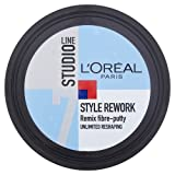 L'oreal Paris Studio Line 7 Style Rework Remix Fibre Putty 24h Reshaping Effect 150 mL with Free Ayur Soap