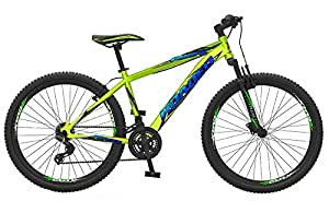 """Roadeo Hercules Roadeo Riot 26"""" Hard Tail Front Suspension V Brake Stylish Sporty Vivid Green Steel Bike/Bicycle For Boys"""