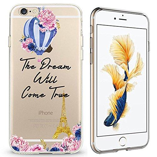 Panelize iPhone 6 Country Hülle Schutzhülle Handyhülle Hard Case Cover Kratzfest Rutschfest Durchsichtig Klar (Country Eifelturm) Country Eifelturm