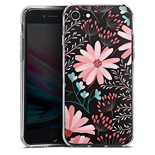 Apple iPhone 4s Silikon Hülle Case Schutzhülle Blumen Herbst Muster Silikon Case transparent