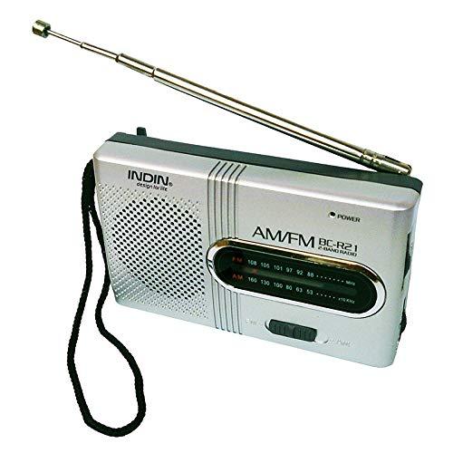 Lidahaotin BC-R21 Mini-Radio tragbare AM FM Teleskopantenne Pocket Radio Weltempfänger Lautsprecher Batteriebetrieben