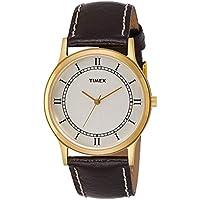 Timex Analog White Dial Mens Watch - TI002B11000