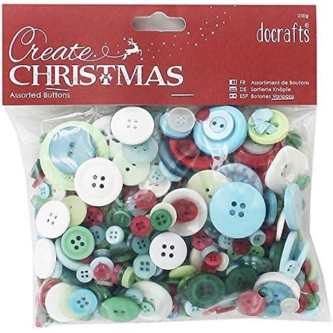 Papermania Docrafts creación de Navidad, diseño de botones variados () 250 g
